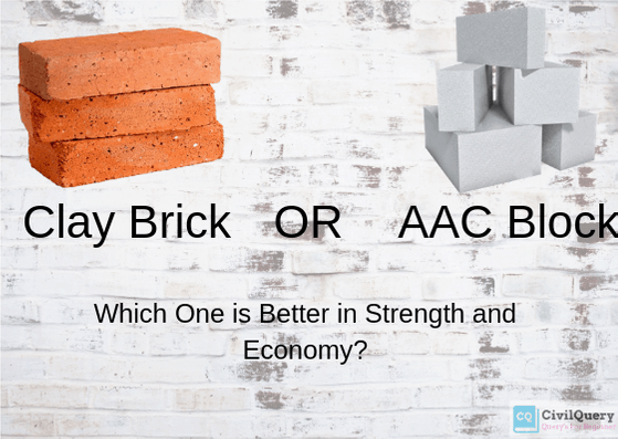 clay bricks or AAC blocks