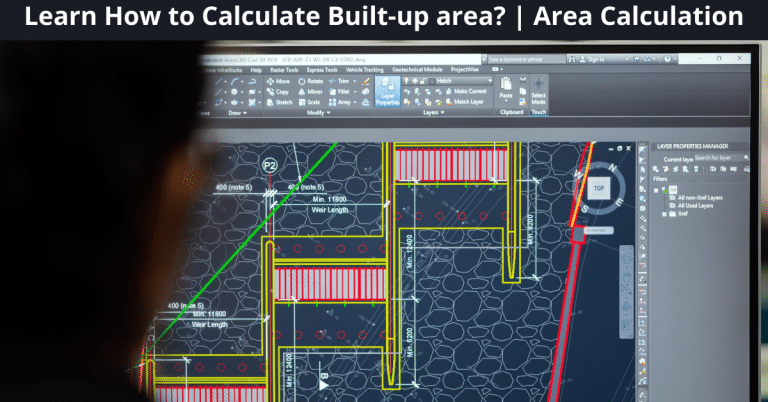 How to Calculate Built-up area? | Area Calculation